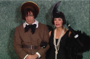 Buster dressed up with his mother (Lucille 1 )