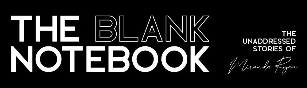 the blank notebook